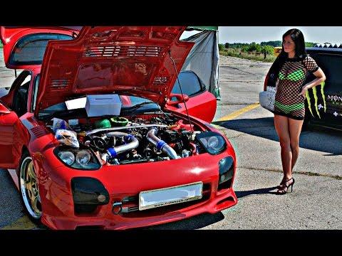 Crazy JDM - MAZDA RX 7   Drift   Burnouts   Turbo Loud Sound